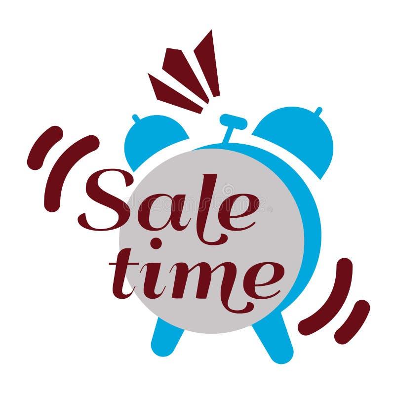 Het etiket van de verkooptijd, vlakke vectorillustratie royalty-vrije illustratie