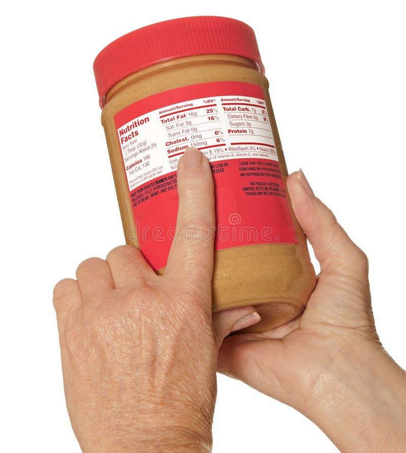 Het Etiket van de voeding stock afbeeldingen