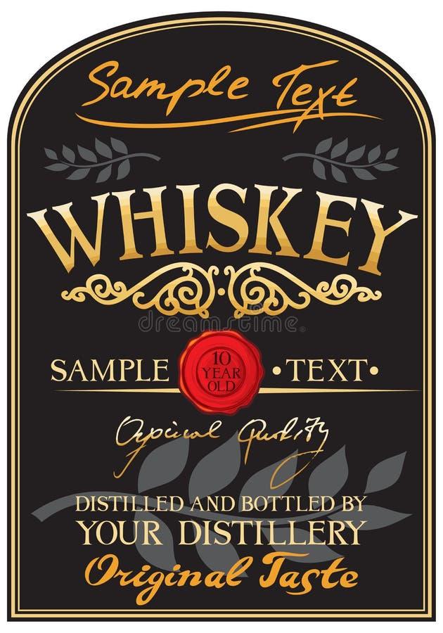 Het etiket van de whisky vector illustratie
