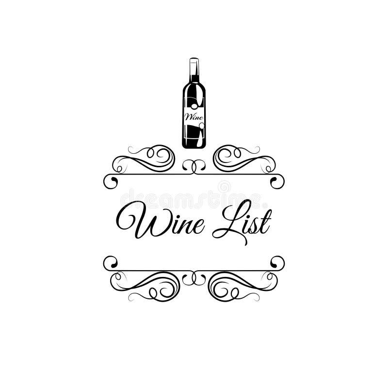 Het etiket van de wijn retro patroon vectorillustratie stock illustratie