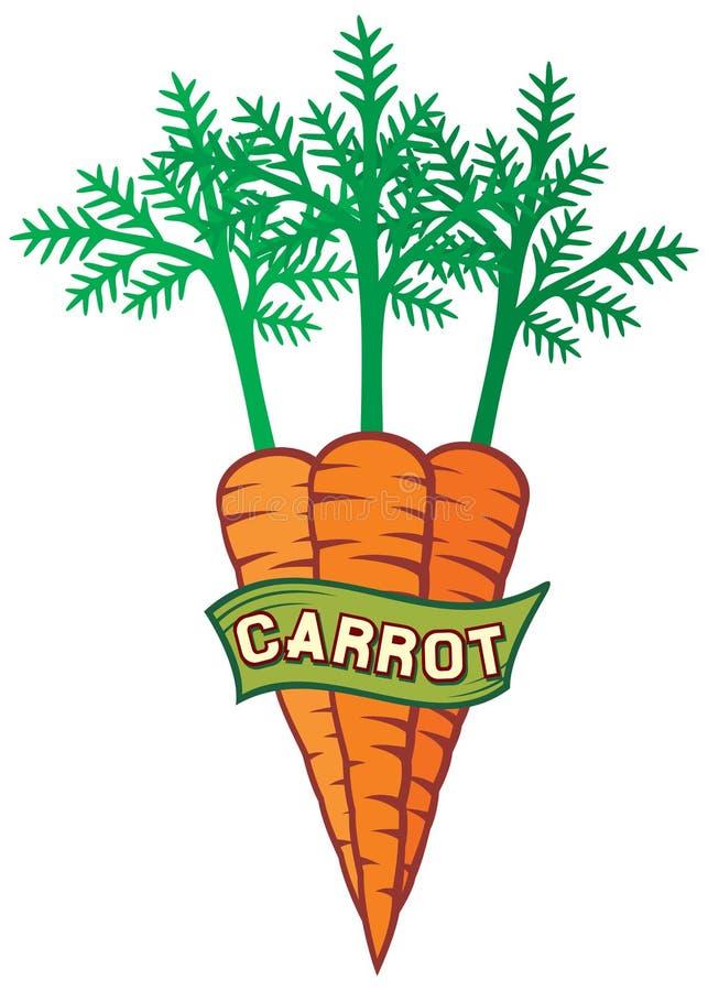 Het etiket van de wortel stock illustratie