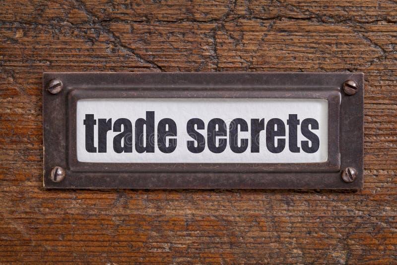 Het etiket van handelsgeheimen royalty-vrije stock fotografie