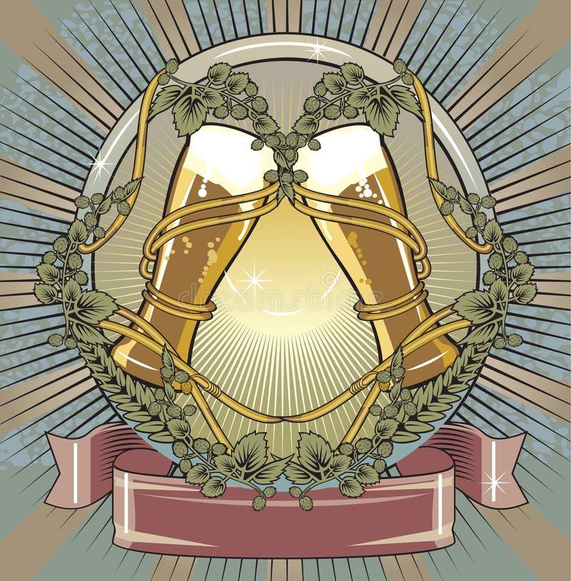 Het etiket van het bier royalty-vrije illustratie