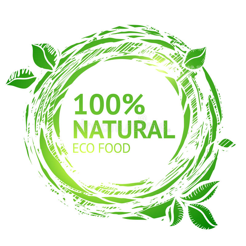 Het etiket van het Ecovoedsel grunge