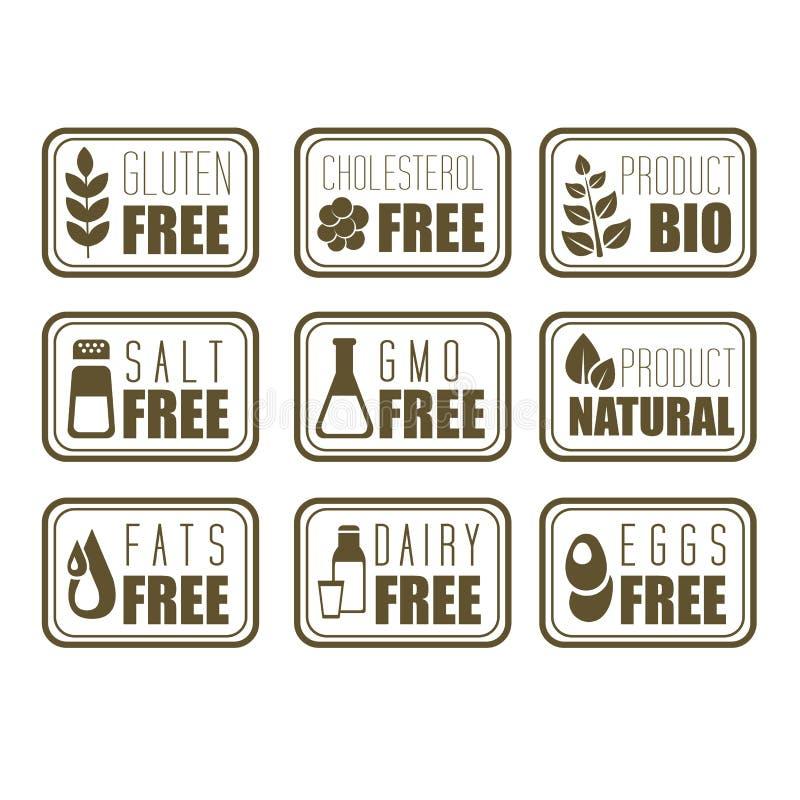 Het Etiket van het gluten Vrije, Natuurlijke Product stock illustratie