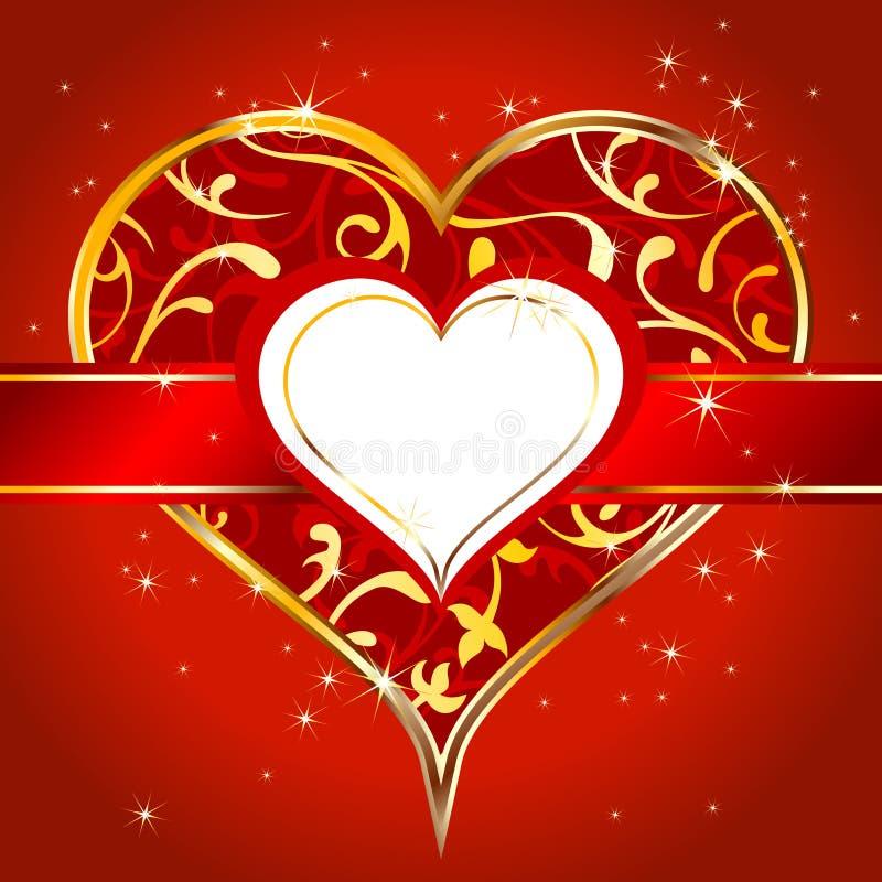 Het etiket van het hart royalty-vrije illustratie