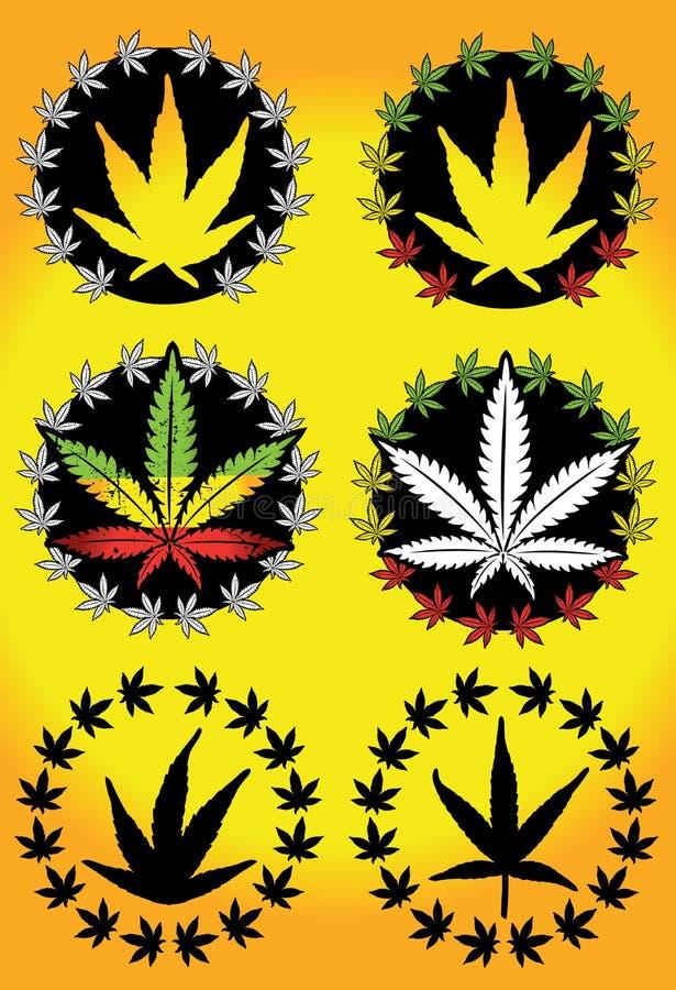 Het etiket van het het onkruidontwerp van de cannabismarihuana vector illustratie