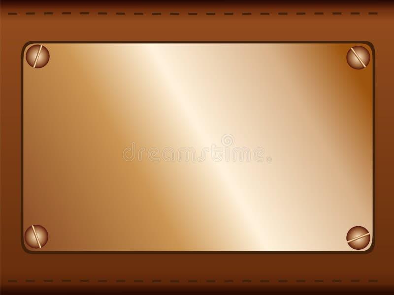 Het etiket van het koper stock illustratie