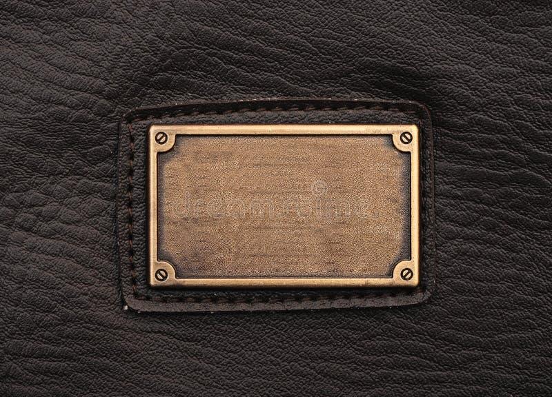 Het etiket van het metaal stock afbeeldingen