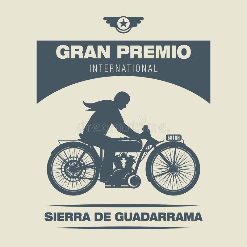 Het etiket van het motorfietsras stock illustratie
