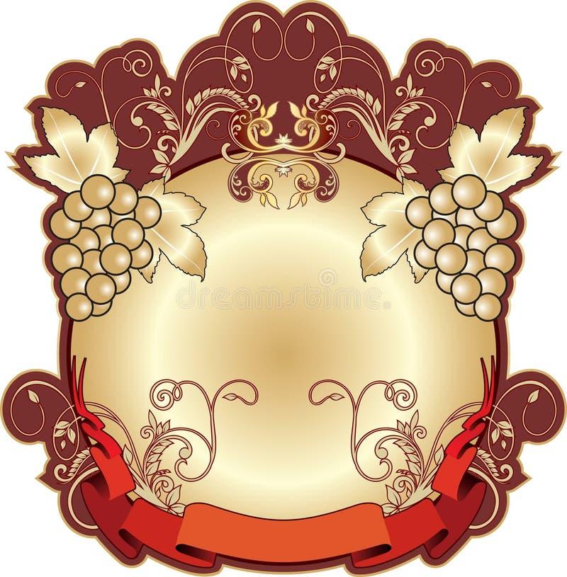 Het Etiket van het Wijnbouwproduct royalty-vrije illustratie