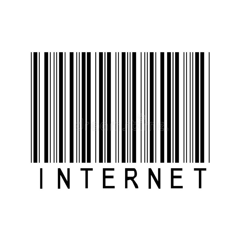 Het etiket van Internet upc stock foto's