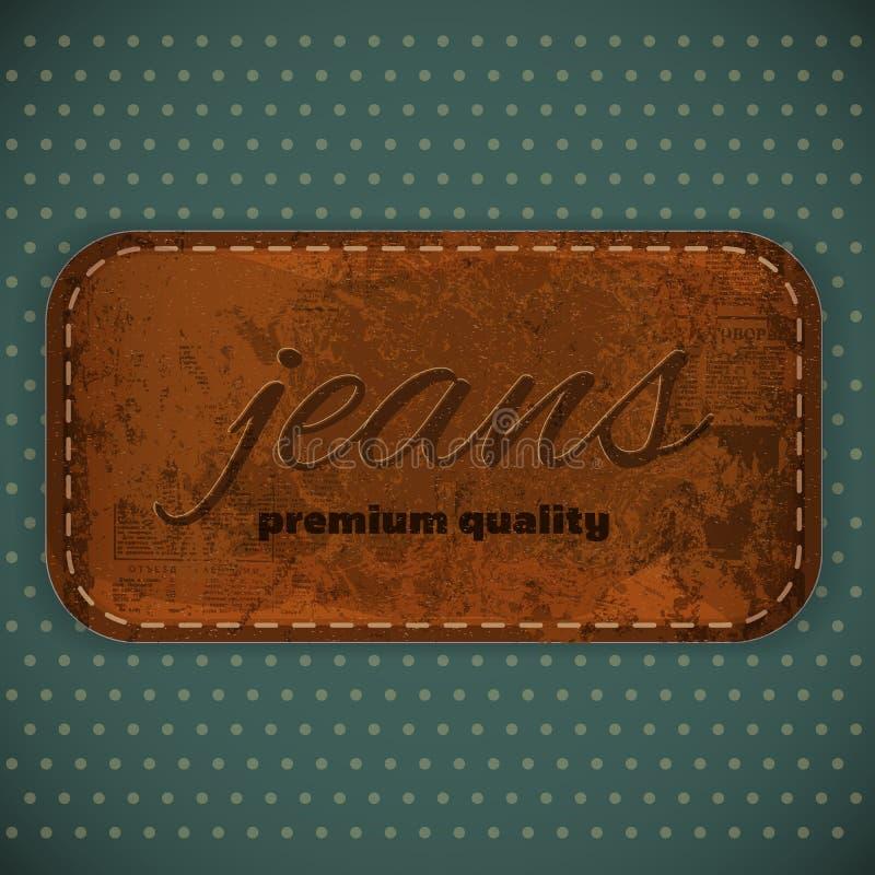 Het Etiket van jeans vector illustratie