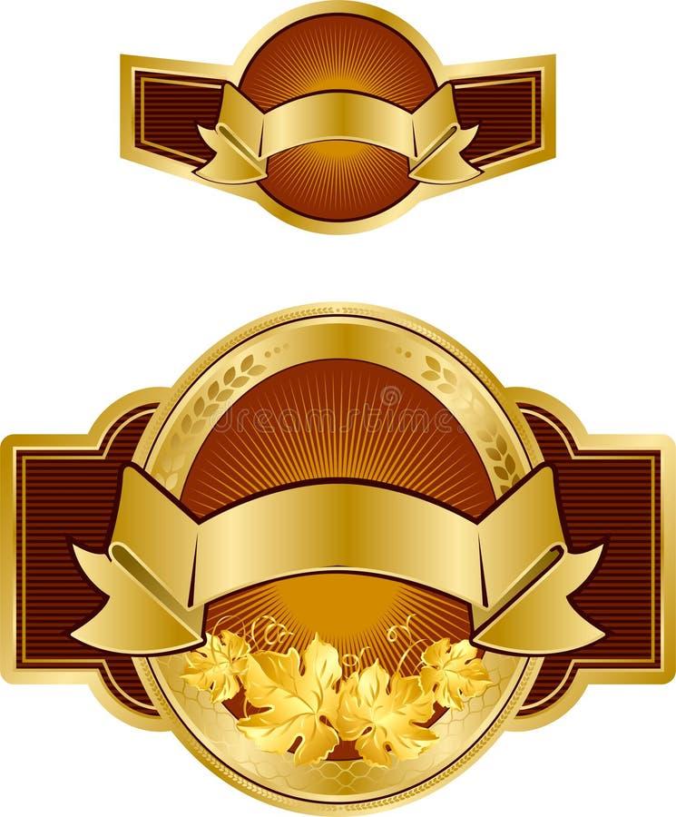Het etiketontwerp van het bier royalty-vrije illustratie