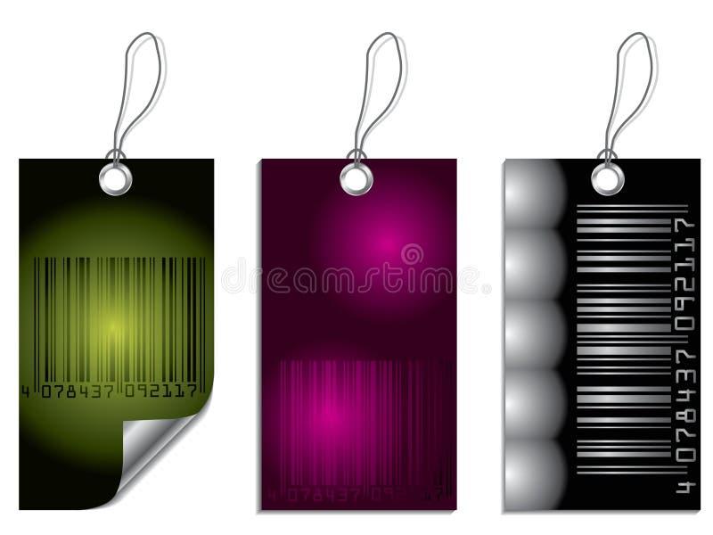Het etiketreeks van de streepjescode royalty-vrije illustratie