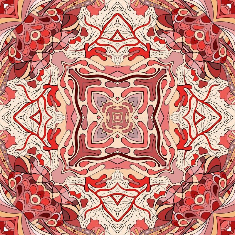 Het etnische ornament van Tracerymehndi Onverschillig discreet kalmerend motief, bruikbaar doodling kleurrijk harmonisch ontwerp  stock foto