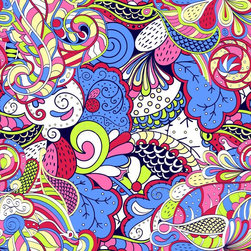 Het etnische ornament van Tracerymehndi Onverschillig discreet kalmerend motief, bruikbaar doodling kleurrijk harmonisch ontwerp  royalty-vrije illustratie