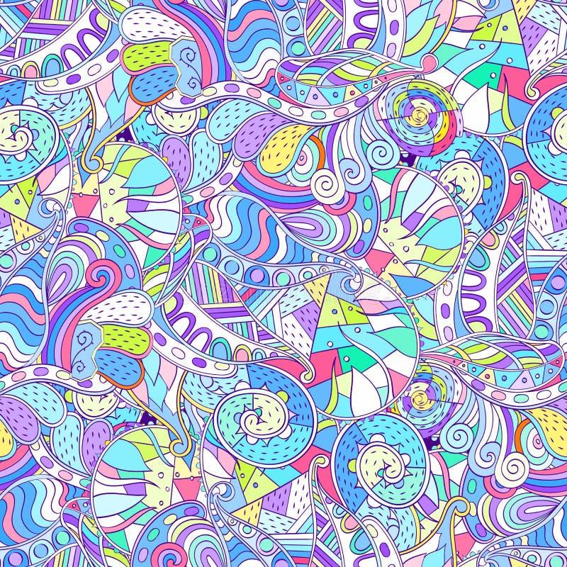 Het etnische ornament van Tracerymehndi Onverschillig discreet kalmerend motief, bruikbaar doodling kleurrijk harmonisch ontwerp  vector illustratie