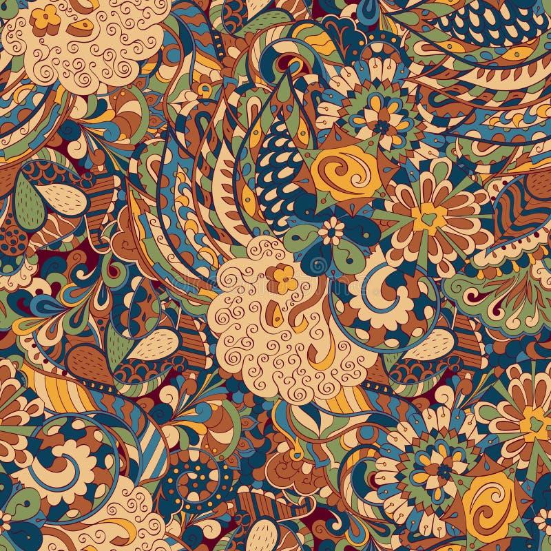 Het etnische ornament van Tracerymehndi Onverschillig discreet kalmerend motief, bruikbaar doodling kleurrijk harmonisch ontwerp  stock afbeeldingen