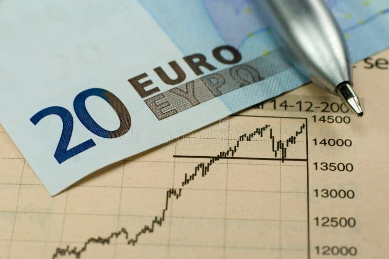 Het euro Investeren stock afbeeldingen