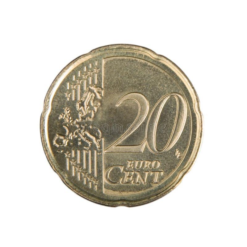 Het Euro Muntstuk van Cent twintig stock afbeelding