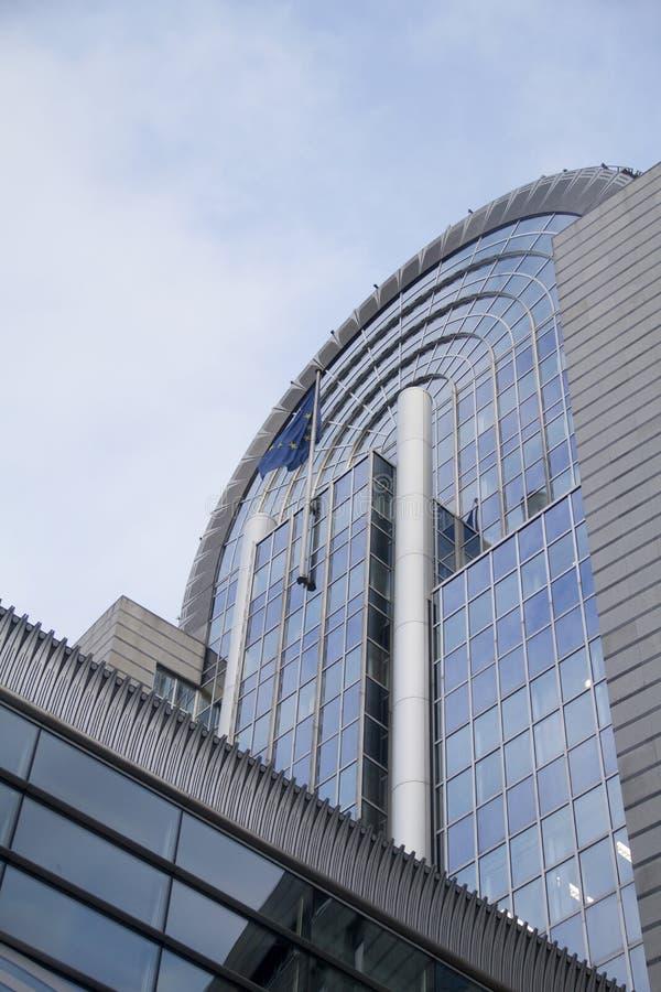 Het Europees Parlement Brussel stock fotografie
