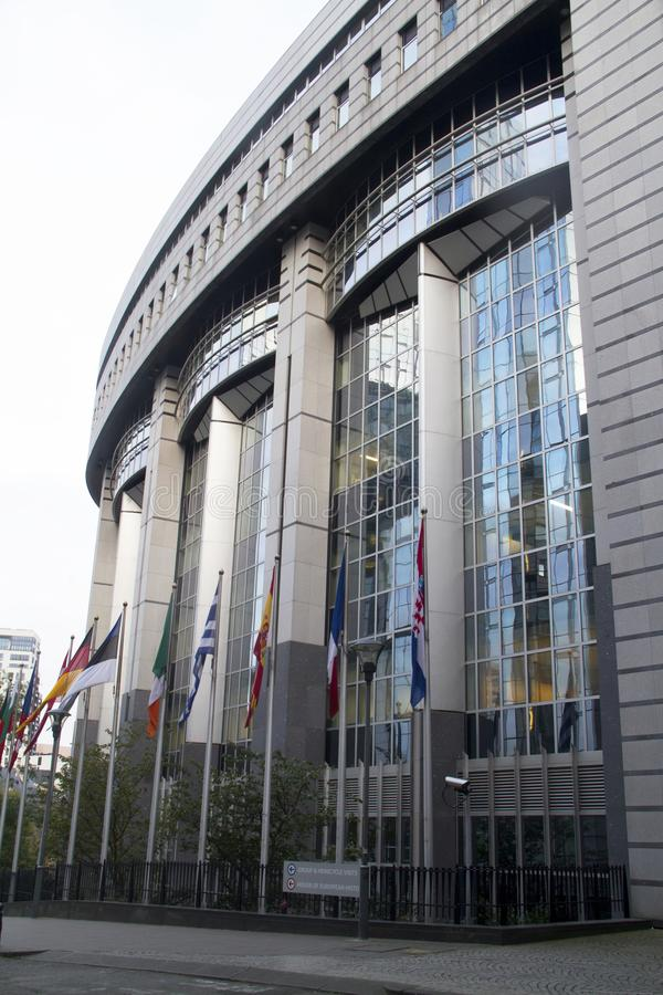 Het Europees Parlement Brussel royalty-vrije stock afbeelding