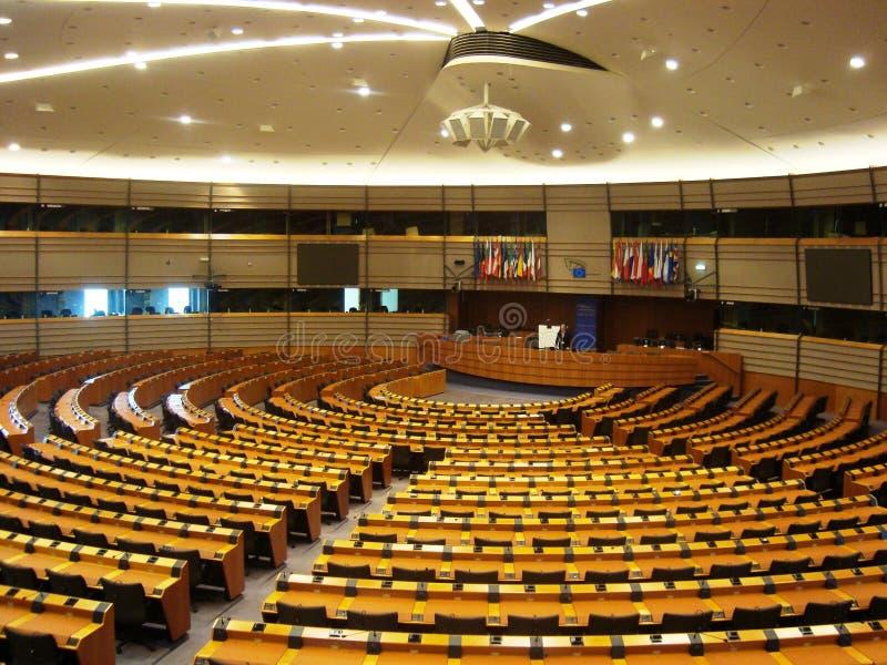 Het Europees Parlement Brussel stock afbeelding
