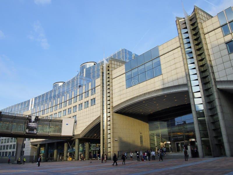 Het Europees Parlement in Brussel stock afbeelding