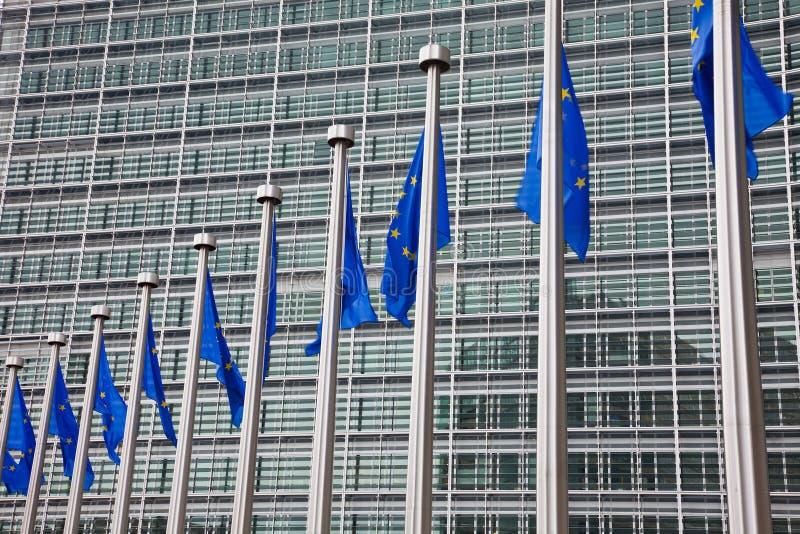 Het Europees Parlement. Brussel, België stock foto