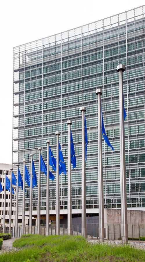 Het Europees Parlement. Brussel, België stock foto's