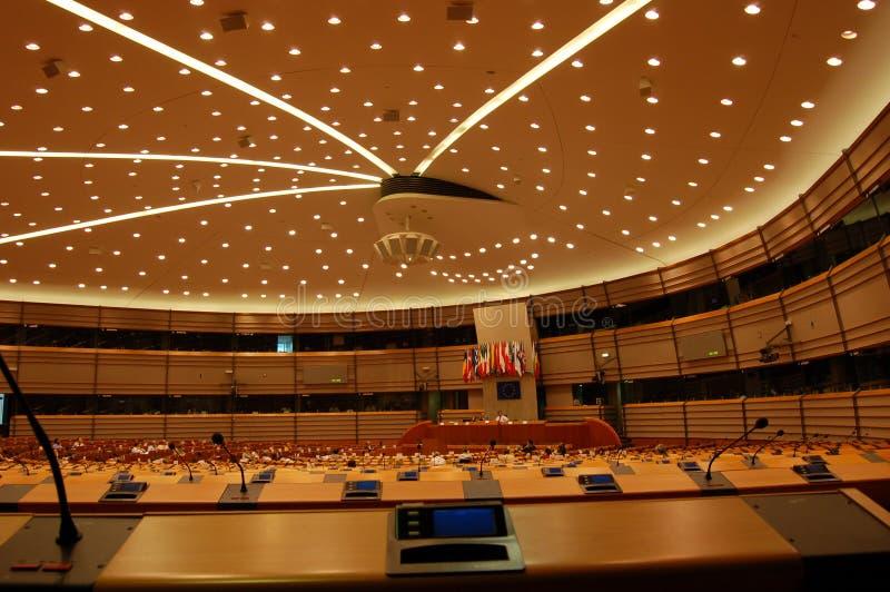Het Europees Parlement Brussel van de Zaal van de assemblage royalty-vrije stock foto
