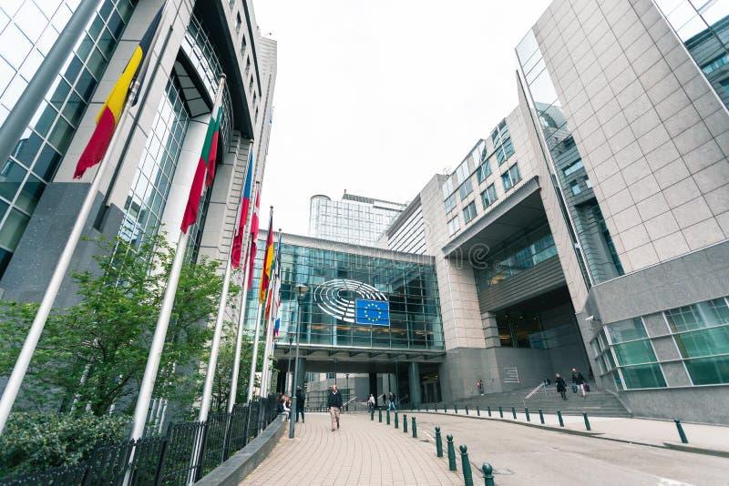 Het Europees Parlement de bouw in Brussel, Belgi? stock fotografie