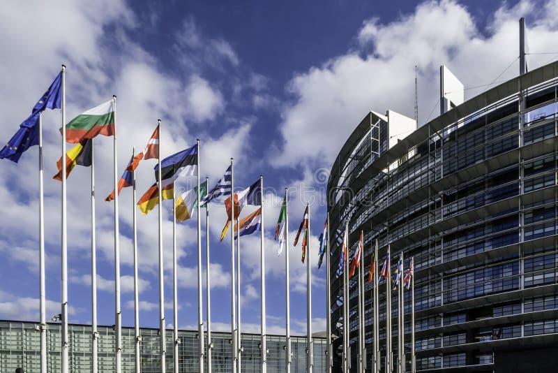 Het Europees Parlement in Straatsburg royalty-vrije stock foto's