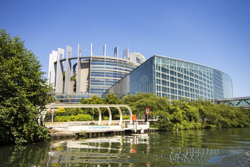 Het Europees Parlement, Straatsburg, Frankrijk stock afbeeldingen
