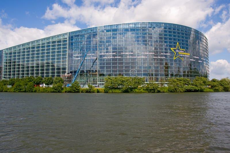 Het Europees Parlement in Straatsburg - Frankrijk stock foto's