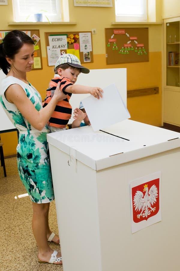 Het Europees Parlement verkiezing, 2014 (Polen) royalty-vrije stock foto's