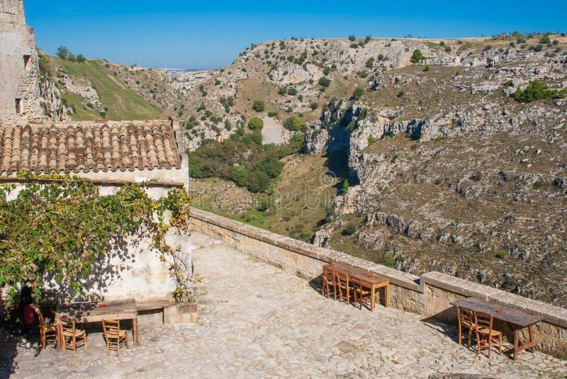 Het Europese kapitaal van Matera van cultuur 2019, Basilicata, Italië royalty-vrije stock foto's