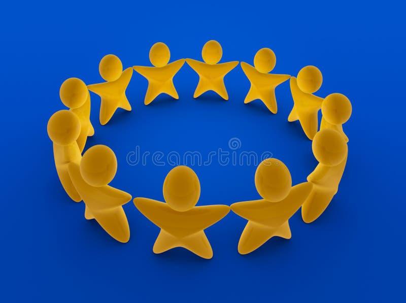 Het Europese team van Sterren stock illustratie