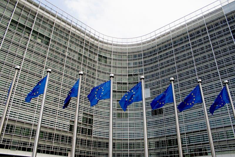 Het Europese vlaggen golven stock foto's