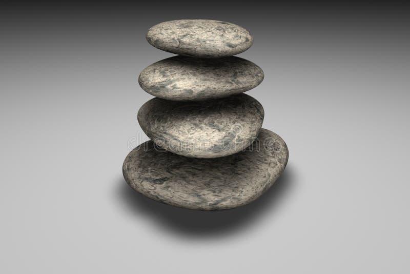 Het in evenwicht brengen van rotsen royalty-vrije illustratie