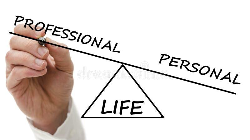 Het in evenwicht brengende professionele en persoonlijke leven royalty-vrije stock afbeelding