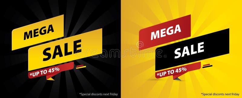 Het exclusieve ontwerp van de de bevorderingsbanner van de verkoopkorting Malplaatje voor opslagstickers, Webbanners, sociale med vector illustratie