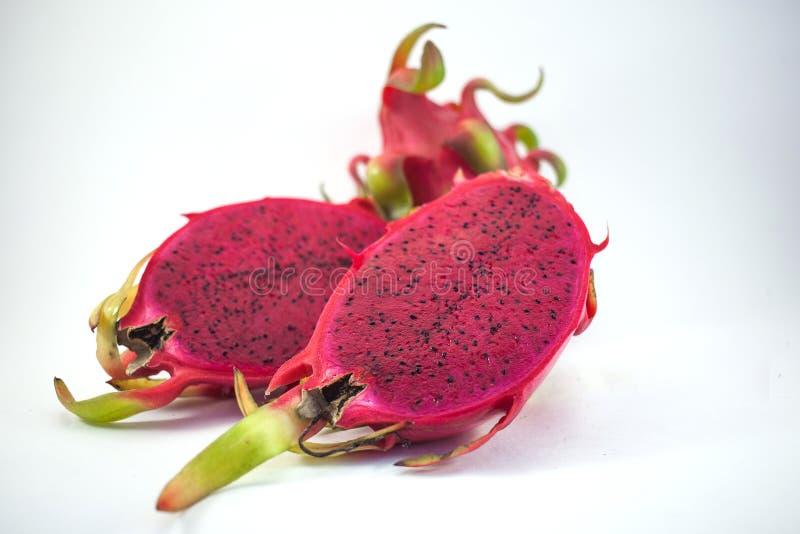 Het exotische rijpe roze fruit van Pitaya of van de Draak Rode Pitahaya tropisch F stock afbeeldingen