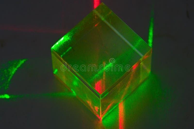 Het experiment van de laser stock foto