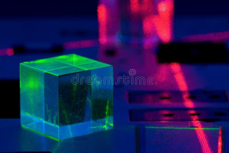 Het experiment van de laser royalty-vrije stock afbeelding