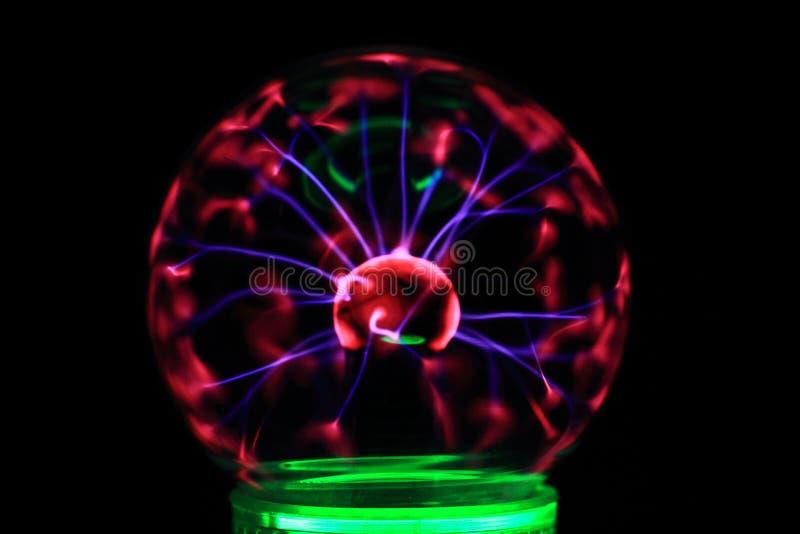 Het experiment van de plasmalamp stock afbeeldingen