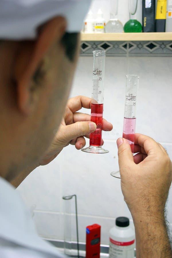 Het experiment van het laboratorium stock foto's
