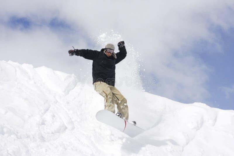 Het extreme snowboarding stock fotografie