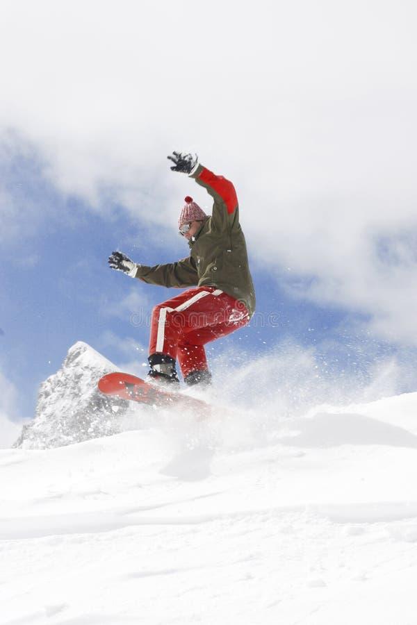Het extreme snowboarding royalty-vrije stock foto's